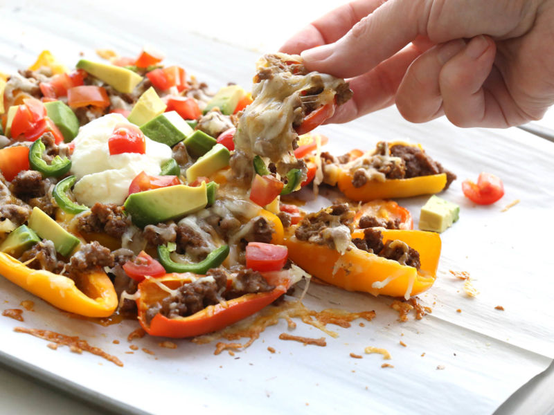 Mini Pepper Nachos