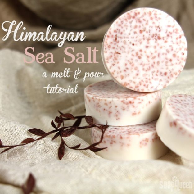 Soap Recipes DIY - Pink Salt and Shea Bath Bar - DIY Soap Recipe Ideas - Best Soap Tutorials for Soap Making Without Lye - Easy Cold Process Melt and Pour Tips for Beginners - Crockpot, Essential Oils, Homemade Natural Soaps and Products - Creative Crafts and DIY for Teens, Kids and Adults http://diyprojectsforteens.com/cool-soap-recipes