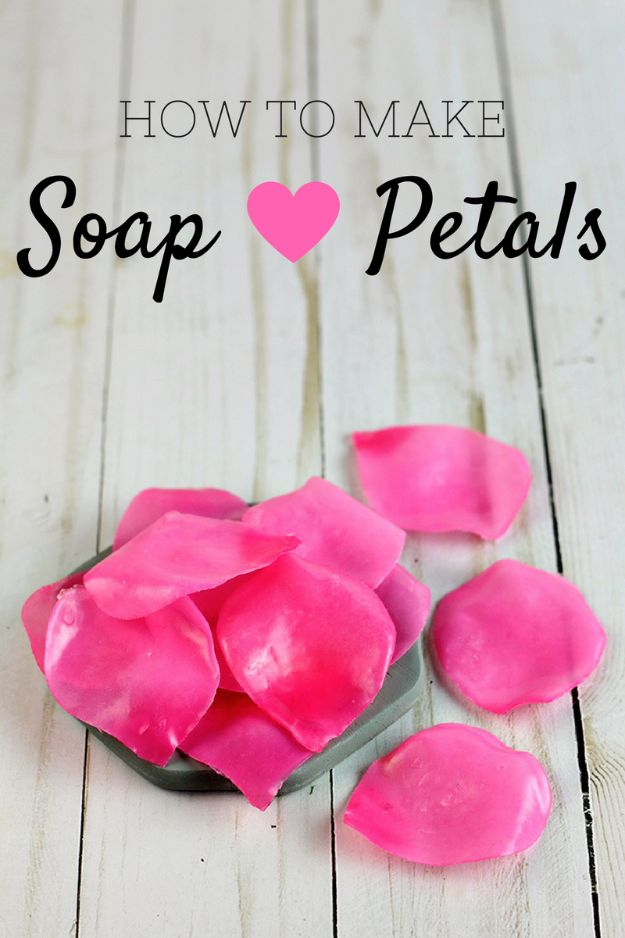Soap Recipes DIY - Soap Petals - DIY Soap Recipe Ideas - Best Soap Tutorials for Soap Making Without Lye - Easy Cold Process Melt and Pour Tips for Beginners - Crockpot, Essential Oils, Homemade Natural Soaps and Products - Creative Crafts and DIY for Teens, Kids and Adults http://diyprojectsforteens.com/cool-soap-recipes