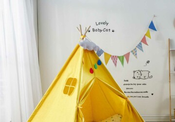 Help Your Kid Become More Creative: Build A Tent For Him! - tent, poles, kids, fabric, creative, build