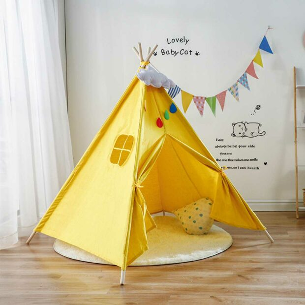 Help Your Kid Become More Creative: Build A Tent For Him!