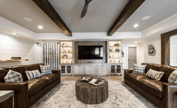 5 Creative Design Tips for Small Basement Renovations - traditional, Storage, Space, renovation, home decor, flooring, ceiling, basement, arches