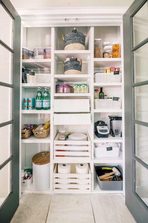 10 Genius Ideas for Building a Pantry Shelves - shelves, Pantry Shelves, Pantry Organization, Kitchen Pantry Ideas, diy shelves, diy Pantry Shelves