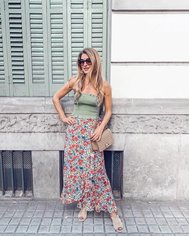 13 Trendy Midi and Maxi Skirt Outfit Ideas - Summer Edition - summer midi skirt, summer maxi skirt, Midi and Maxi Skirt Outfit Ideas, Midi and Maxi Skirt
