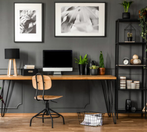 7 Ways to Spruce Up Your Home Office for Productivity - spruce up, productivity, inspiration, houseplants, Home office, furniture, equipment, desk room, art