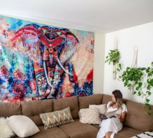 7 Brilliant Ideas for Hanging a Wall Tapestry Around the House - Wall Tapestry, wall, home ideas, decoration