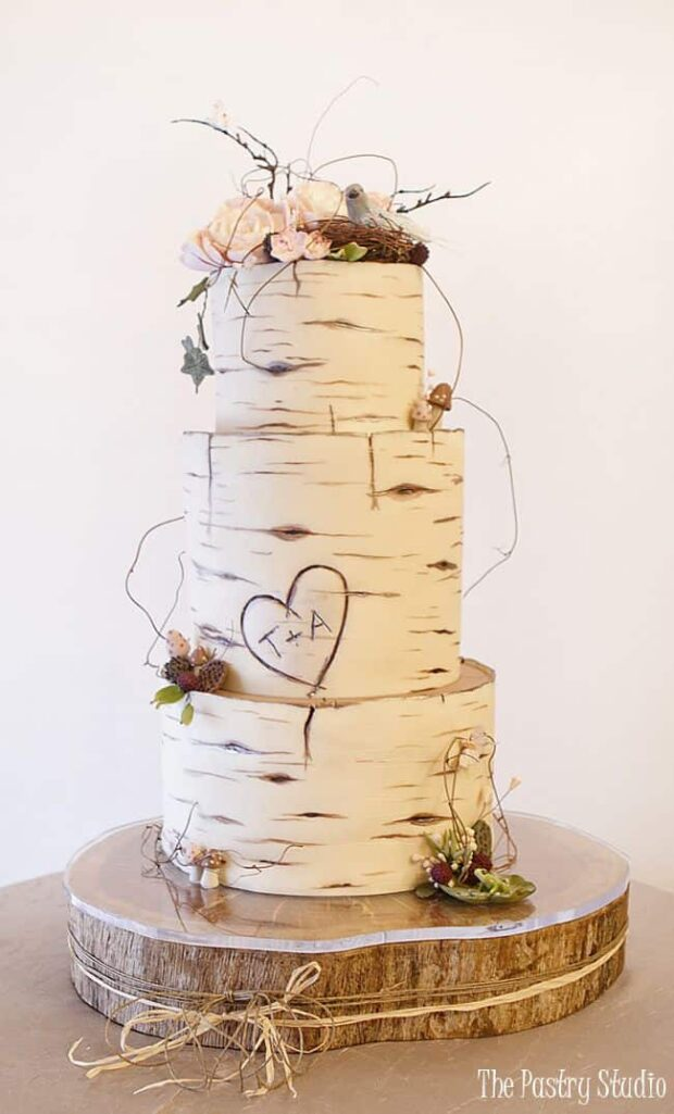 13 Best Wood Effect Cake Recipes and Ideas - Wood Effect Cake, Wood Effect, Wedding Cake, rustic wedding decoration, cake ideas