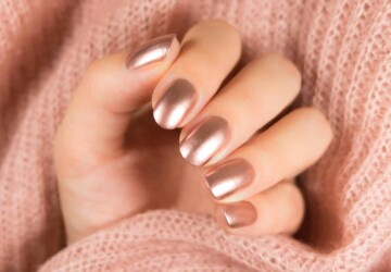 Gorgeous Rose Gold Nail Art Designs - rose nail art, Rose Gold Nail Art, Rose Gold, Nail Art, amazing nail art