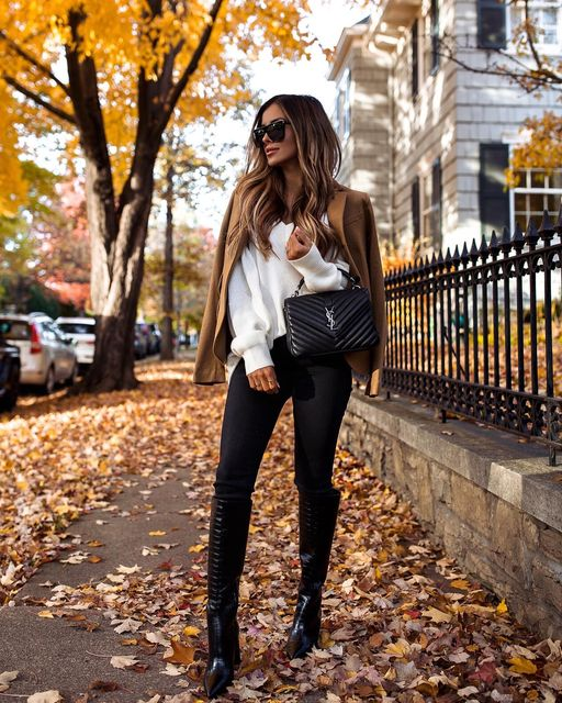 15 Cute Fall Outfit Ideas That Are Perfect For Transition Weather - Fall to Winter Transition Outfit, fall to winter outfits, cute fall outfit