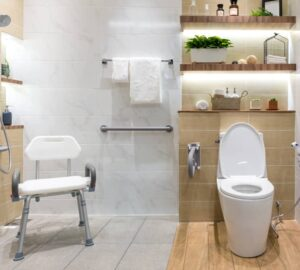 Safe And Stylish: 4 Accessible Bathroom Swaps For Seniors - Stylish, seniors, safe, organize, clutter, bathroom