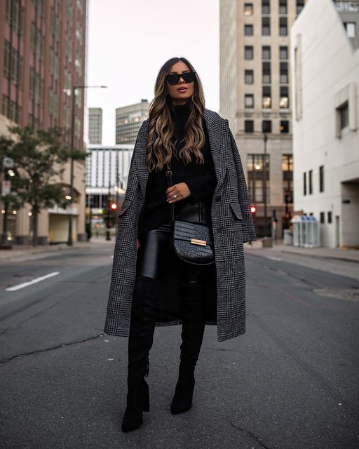 13 Fall Leather-Pants Outfits That Are So Chic (Part 1) - leather pants outfit ideas, how to style leather pants, Fall Leather-Pants Outfits