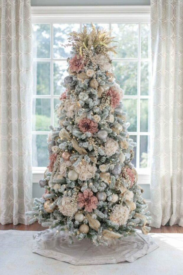 13 Unique Christmas Tree Ideas for The Best Holiday Celebration - unique christmas tree, Christmas Tree Ideas, Christmas Tree Decorating Ideas, Christmas tree