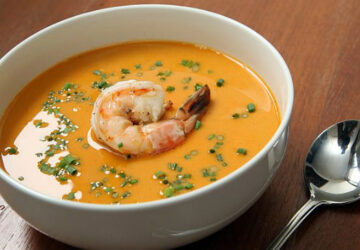 Cream Soup Recipe For Healthy & Sophisticated Christmas Entrée - soup, prawn bisque, food & drinks, food, delicious food, cream soup