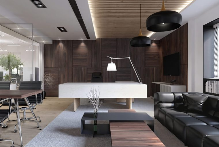 How To Design A Modern Office - partition, natural lighting, modern office, glass, design