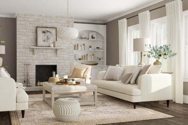 DIY Living Room Makeover Ideas To Try This Winter - textures, makeover, Living room, light it up, ideas, home decor, fireplace, decorating ideas, decor