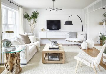 A Place to Relax: Living Room Essentials - sofa, rugs, Plants, Living room, lighting, essentials, coffee table, art