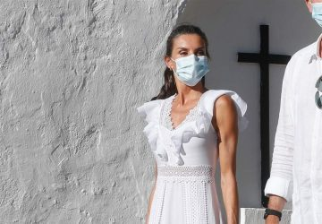 The White Dress That Queen Letizia Wore On Ibiza Set Trends For Upcoming Dress Styles - women style, women fashion, white dress, style motivation, style, lace panels, fashion style, fashion, cotton white dress