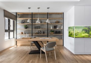 5 Home Office Design Tips to Boost Productivity - tips, lighting, ideas, Home office, design, cabinets