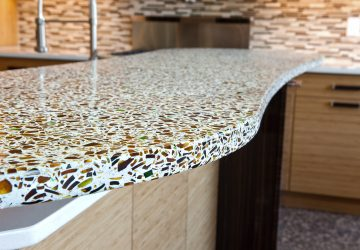 How to Make Recycled Glass Countertops For Your Kitchen? - kitchen, interior design, glass, countertop