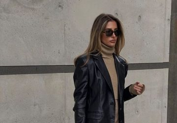 The Black Leather Blazer That Is A Must - style motivation, style, fashion style, fashion, blazers, black leather blazer, black blazer