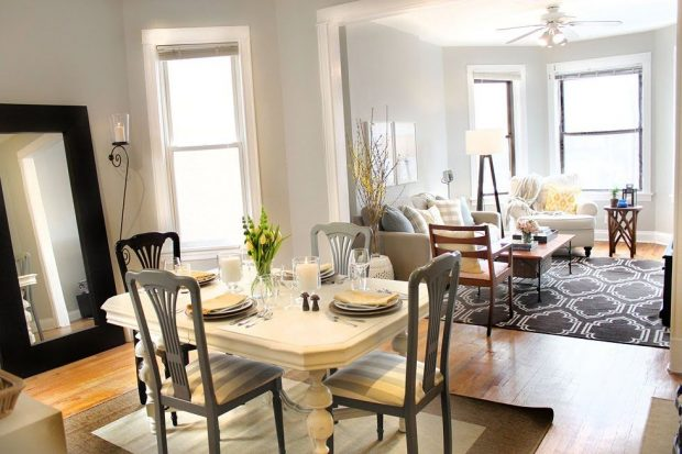 How To Make a Small Dinning Space Appear Large - table, kitchen, dinning room
