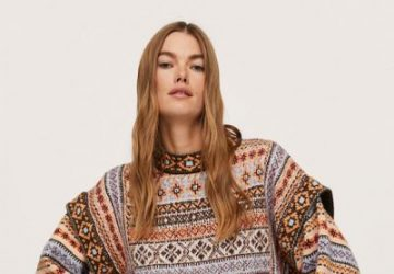 Jacquard-Style Sweater Is The New Garment Of Desire Of The Moment - sweaters. jacquard-style sweaters, style motivation, style, fashion style, fashion