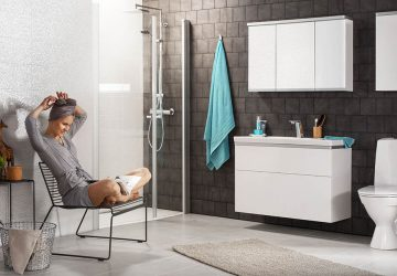 Simple And Effective Ways To Make Your Bathroom Stand Out - simple, radiator, mirror, lighting, home decor, effective, bathroom